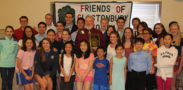 Head Swim Coach Receives FOGY Distinguished Service Award