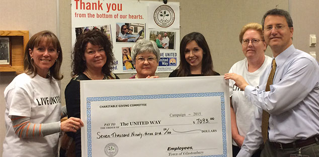 Glastonbury Employees Raised $7K for Local United Way