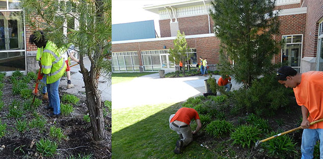 Glastonbury Youth Spruce Up Smith Middle School!
