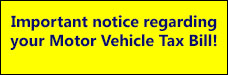 Motor vehicle tax announcement-july 2016