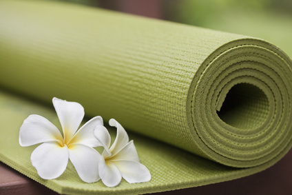 Rolled Yoga Mat-copyrighted image