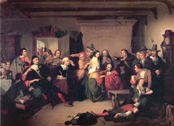 Witch Trial-painting by Tomkins Matteson 1853