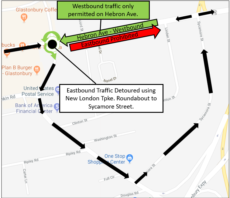 Hebron Ave detour image - Aug-Sept 2018
