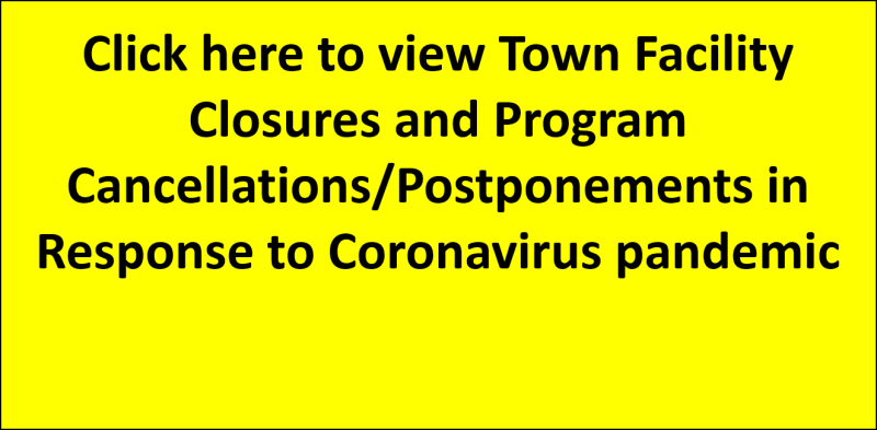 View Town facility Closures and program cancellations